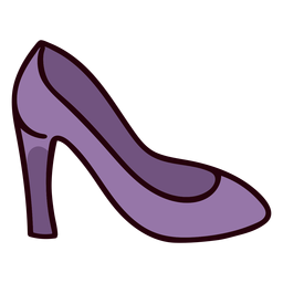 Princess shoe colorful icon stroke
