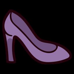 Zapato de princesa colorido icono de trazo