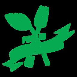 Orgulhoso emblema verde vegetariano