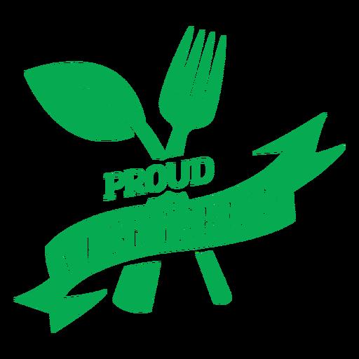 Insignia verde vegetariana orgullosa
