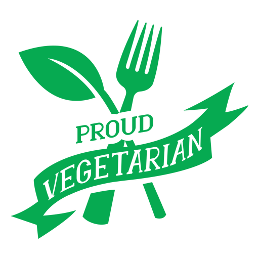 Orgullosa insignia verde vegetariana Transparent PNG