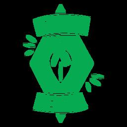 Orgulloso insignia verde vegetal