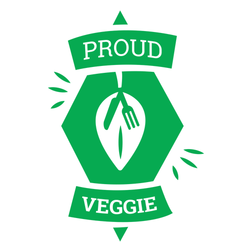 Insignia verde vegetal orgulloso