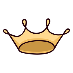Curso de ícone colorido de coroa de rainha