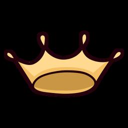Traço colorido do ícone da coroa da rainha