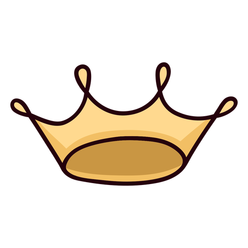 Corona de reina trazo de icono colorido