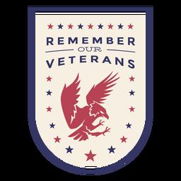 Recuerda nuestra insignia de águila de veteranos