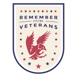 Remember our veterans eagle badge