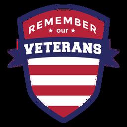 Recuerda insignia de veteranos