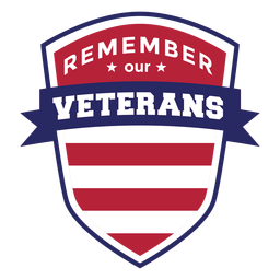 Remember veterans badge
