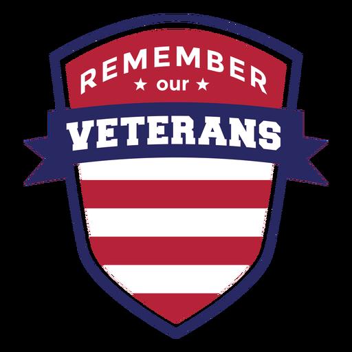 Remember veterans badge