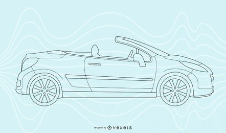 Arte de línea de coche de Seat Leon