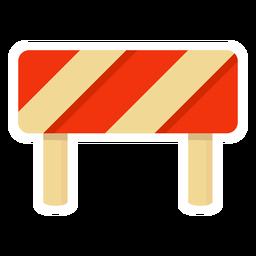 Bloque de carretera colorido plano