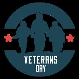 Crachá plana de dia dos veteranos