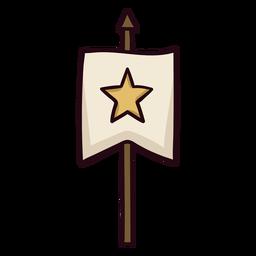 Curso real ícone colorido da bandeira
