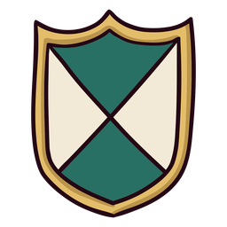 Royal colorful shield icon stroke