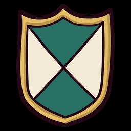Trazo de icono de escudo colorido real