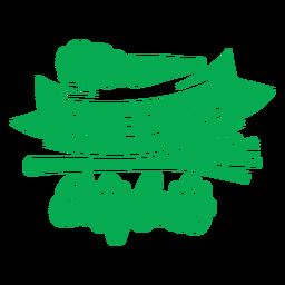 Salvar vidas comer insignia de plantas