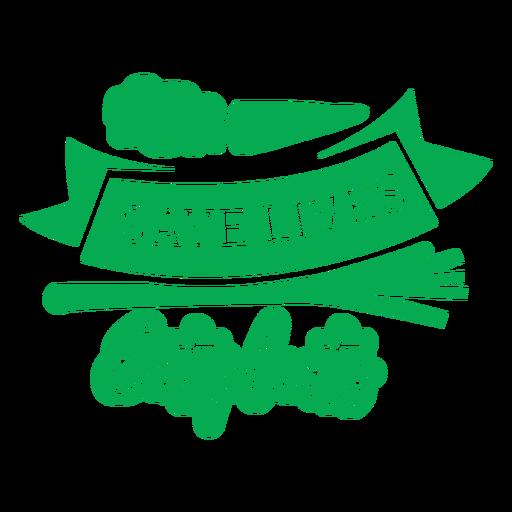 Save lives eat plants badge