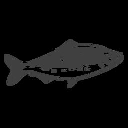 Ilustração de peixe de frutos do mar