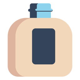 Shampoo bottle colorful icon
