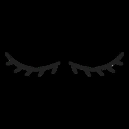 Short natural eye lashes stroke