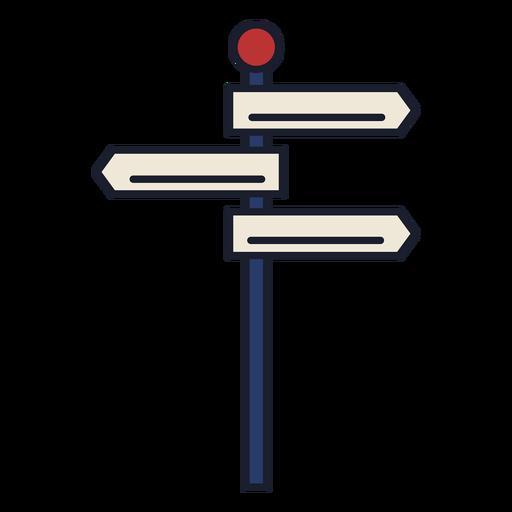 Signpost colorful icon stroke