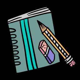 Ilustração colorida de lápis de caderno