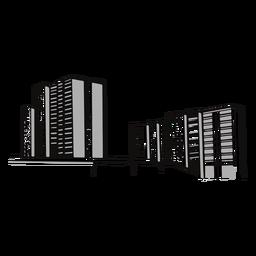 Ilustración de calle de edificios rascacielos