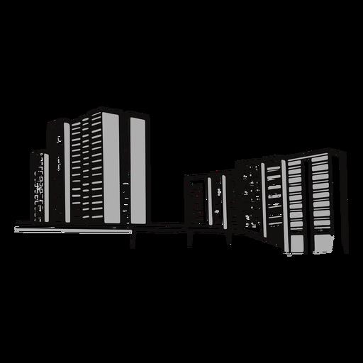 Skyscraper buildings street illustration