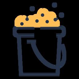 Icono de burbujas de cubo de jabón