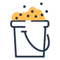 Soap bucket bubbles icon