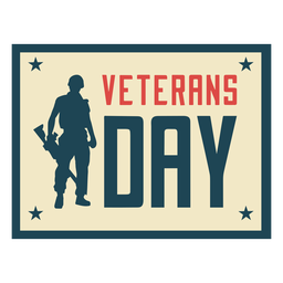 Soldier veterans day flat