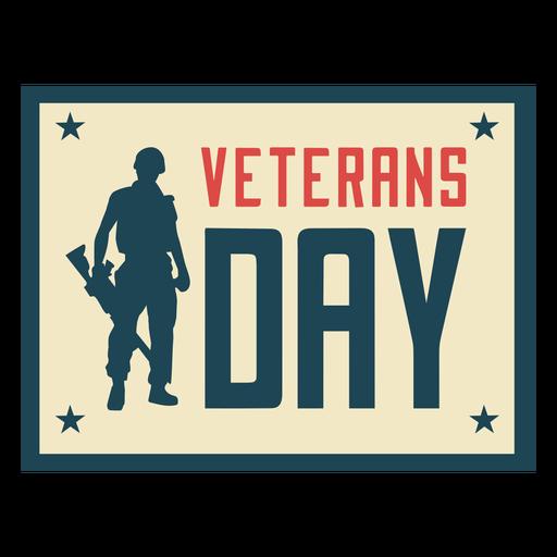 Día de los veteranos del soldado plano