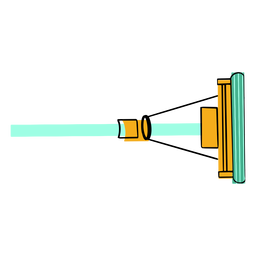Sponge mop colorful icon