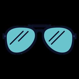 Icono de gafas de sol trazo colorido