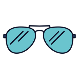 Sunglasses icon colorful stroke