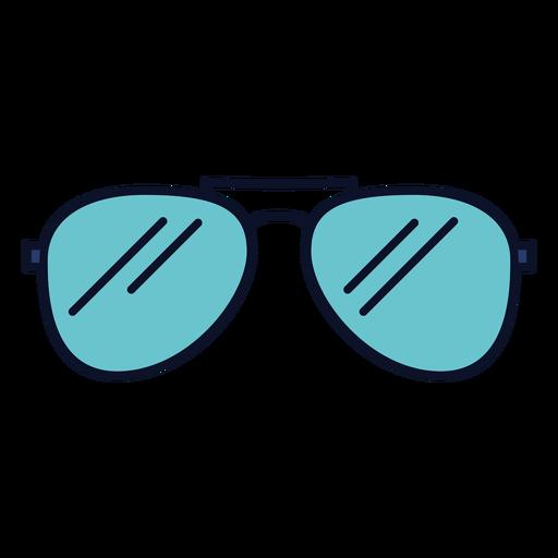 Icono de gafas de sol trazo colorido Transparent PNG