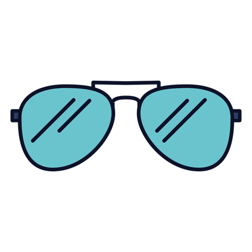 Sunglasses icon colorful stroke Transparent PNG