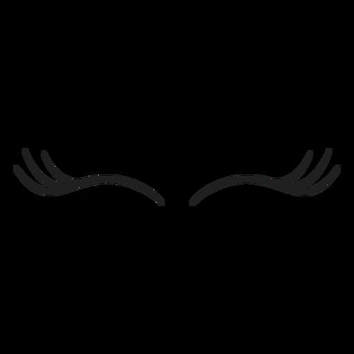 Thin unicorn eyelashes stroke Transparent PNG