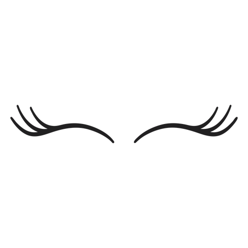 Trazo de pestañas de unicornio fino