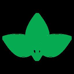 Icono de tres hojas verdes