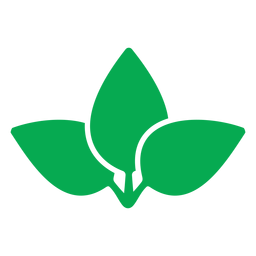 Three green leaves icon