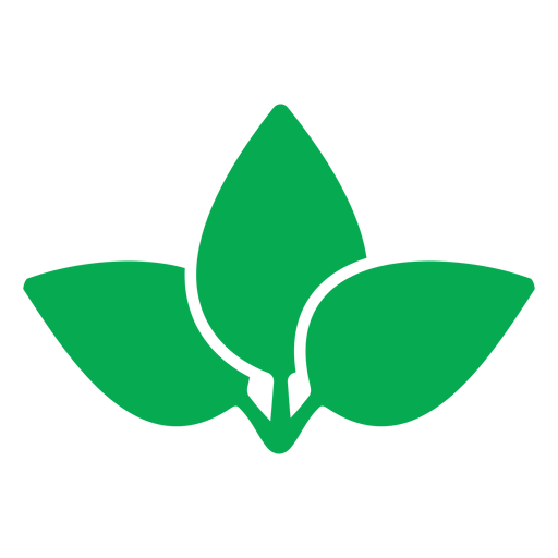 Three green leaves icon