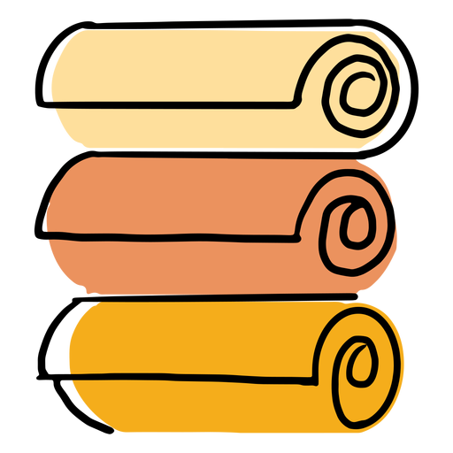 Three towels colorful icon stroke