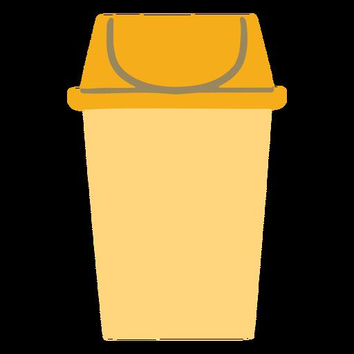 Bote de basura colorido plano