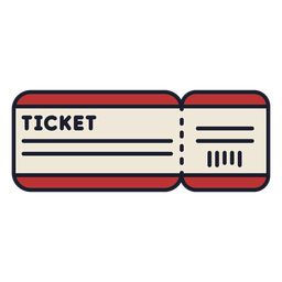Travel ticket colorful icon stroke