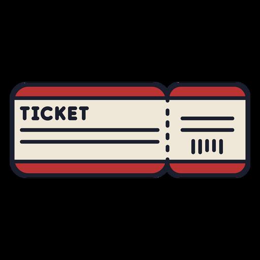 Boleto de viaje colorido trazo de icono Transparent PNG
