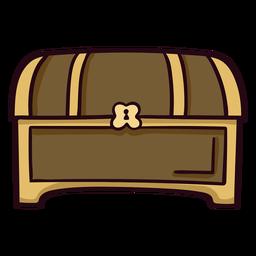 Traço de ícone colorido de baú do tesouro
