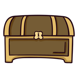 Treasure chest colorful icon stroke